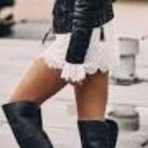 Eyelash lace shorts